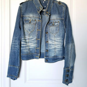 Doll House | Blue Jean Jacket With Studded detail